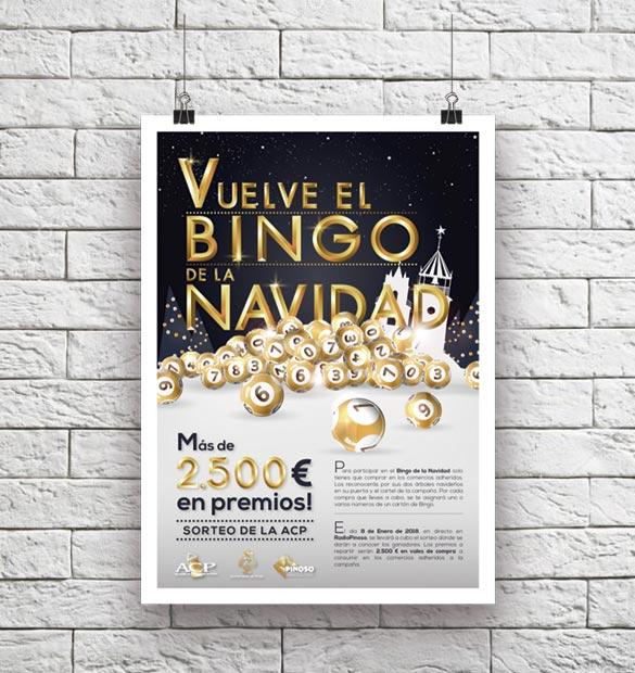 Cartel El Bingo de la Navidad